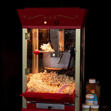 Load image into Gallery viewer, Nostalgia Concession CCP510 Vintage Professional Popcorn Cart-New 8-Ounce Kettle-53 Inches Tall-Red