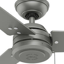 Load image into Gallery viewer, Hunter Fan Company Hunter 59262 Contemporary Modern 52``Ceiling Fan from Cassius Collection in Pwt, Nckl, B/S, Slvr. Finish, Matte Silver