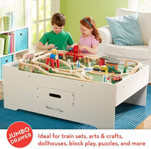 Load image into Gallery viewer, Melissa & Doug Deluxe Wooden Multi-Activity Table