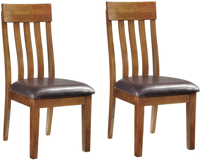 Signature Design by Ashley - Ralene Upholstered Dining Side Chair - Rake Back Style - Set of 2 - Medium Brown (Brown)