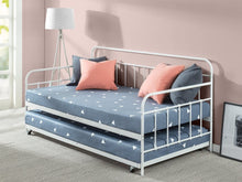 Load image into Gallery viewer, Zinus Florence Twin Daybed and Trundle Frame Set / Premium Steel Slat Support / Daybed and Roll Out Trundle Accommodate / Twin Size Mattresses Sold Separately