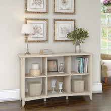 Load image into Gallery viewer, Bush Furniture Salinas 6 Cube Organizer in Antique White
