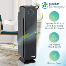 Load image into Gallery viewer, Germ Guardian True HEPA Filter Air Purifier for Home, Office, Large Room, Filters Allergies, Pollen, Smoke, Dust, Pet Dander, UVC Sanitizer Eliminates Germs, Mold, Odors, Quiet 28 inch 3-in-1 AC5300B