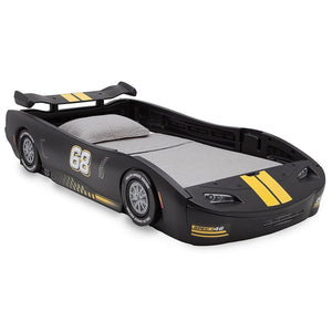 Delta Children Turbo Race Car Twin Bed, Black (Bed Black)