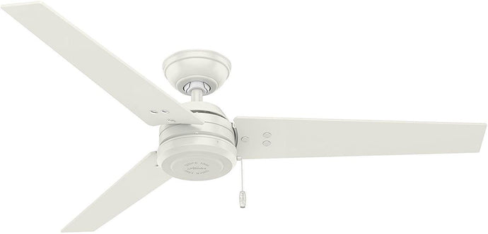 Hunter Fan Company 59263 Cassius Fresh White Ceiling Fan, 52