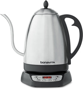Bonavita 1.7L Variable Temperature Kettle Featuring Gooseneck Spout, BV382518V (1.7 Liters)