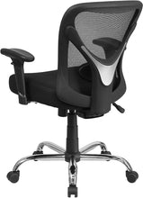 Load image into Gallery viewer, Flash Furniture Big & Tall Office Chair | Adjustable Height Mesh Swivel Office Chair with Wheels, BIFMA Certified