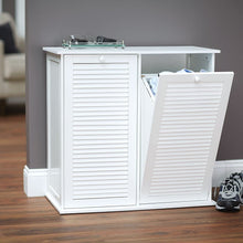 Load image into Gallery viewer, Household Essentials Tilt-Out Laundry Sorter Cabinet with Shutter Front