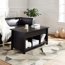 Load image into Gallery viewer, Rockpoint Argus Lift-Top Wood Coffee Table, Penguin Black