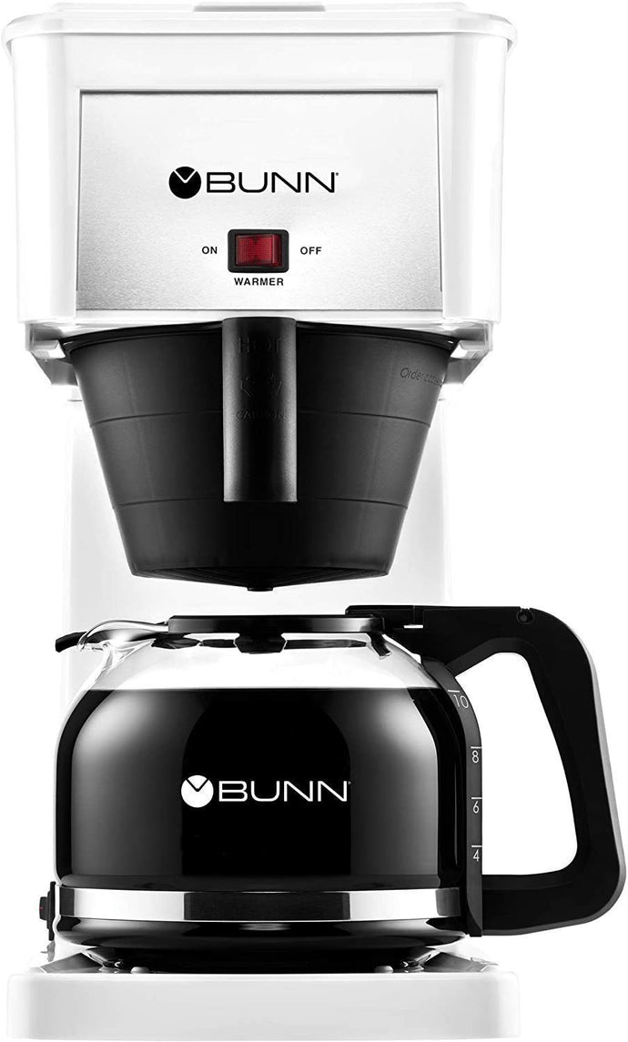 BUNN GRW Velocity Brew 10-Cup Home Coffee Brewer, White (White)