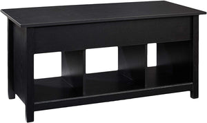 Rockpoint Argus Lift-Top Wood Coffee Table, Penguin Black