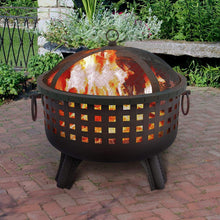Load image into Gallery viewer, Landmann 26364 23-1/2-Inch Savannah Garden Light Fire Pit, Black
