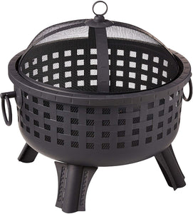 Landmann 26364 23-1/2-Inch Savannah Garden Light Fire Pit, Black (Fire Pit)
