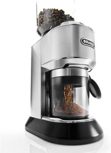 De'Longhi KG521 Dedica Conical Burr Grinder with Portafilter Attachment, 6.9 x 11.2 x 18.1 inches, Silver