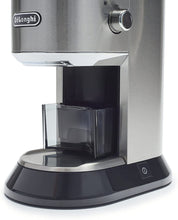 Load image into Gallery viewer, De'Longhi KG521 Dedica Conical Burr Grinder with Portafilter Attachment, 6.9 x 11.2 x 18.1 inches, Silver