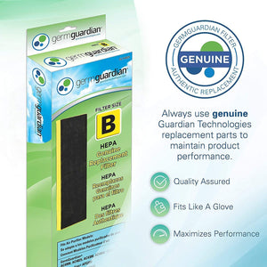 Germ Guardian FLT48254PK True HEPA GENUINE Air Purifier Replacement Filter B Multi-Pack for GermGuardian AC4300BPTCA, AC4900CA, AC4825, AC4825DLX, AC4850PT, CDAP4500BCA, CDAP4500WCA and More, 4-Pack