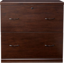 Load image into Gallery viewer, Z-Line Designs 2-Drawer Lateral File Espresso Cabinet with Black Accents