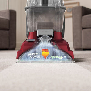 Hoover - Power Scrub Deluxe Corded Carpet Upright Deep Cleaner - Red