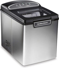 Load image into Gallery viewer, Hamilton Beach 86150 Countertop Ice Maker, Compact & Portable Design, Makes 28 Pounds Per Day, Stainless Steel
