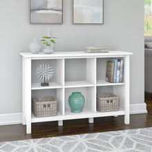 Load image into Gallery viewer, Bush Furniture Broadview 6 Cube Storage Bookcase in Pure White