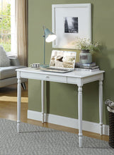 Load image into Gallery viewer, Convenience Concepts French Country Desk, White (White)