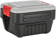 Load image into Gallery viewer, Rubbermaid ActionPacker️ 24 Gal Lockable Storage Bins Pack of 2, Industrial, Rugged Storage Containers with Lids