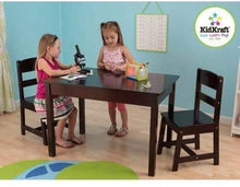 Load image into Gallery viewer, KidKraft Wooden Rectangular Table & 2 Chair Set For Kids - Espresso