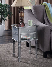 Load image into Gallery viewer, Convenience Concepts Gold Coast Mayfair End Table, Antique Silver / Mirror