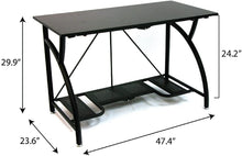 Load image into Gallery viewer, Origami Multi-Purpose fodable Steel frame Table,Sturdy Heavy Duty PC Computer Desk, Fully Assembled Large Craft Desk,Gaming Desk,Storage Space Saving Work Station, Home office,Turquoise RDE-TURQ