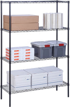 "Load image into Gallery viewer, Honey-Can-Do 4-Tier Steel Wire Shelf with 350-Pound Capacity, 18"" L x 48"" W x 72"" H, Black"