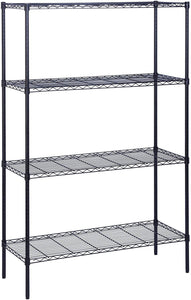 "Honey-Can-Do 4-Tier Steel Wire Shelf with 350-Pound Capacity, 18"" L x 48"" W x 72"" H, Black"