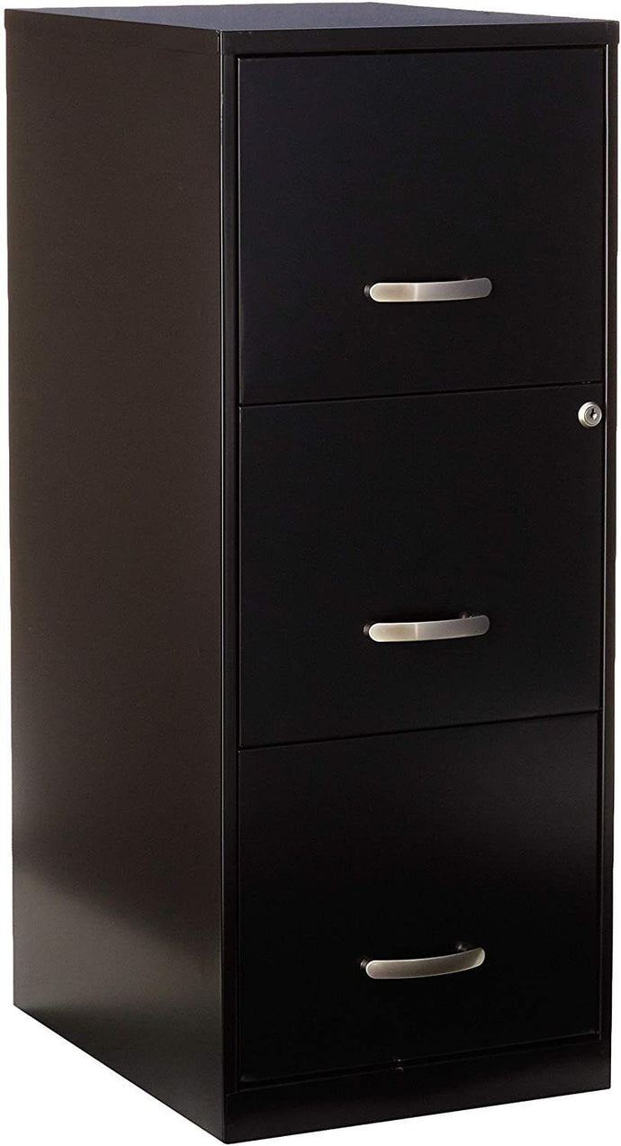 LLR18573 - Lorell SOHO 18 3-Drawer Vertical File (Black)