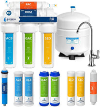 Load image into Gallery viewer, Express Water Reverse Osmosis Water Filtration System – NSF Certified 5 Stage RO Water Filter System with Faucet and Tank – Under Sink Water Filter – plus 4 Replacement Filters – 50 GPD, Model:RO5DX