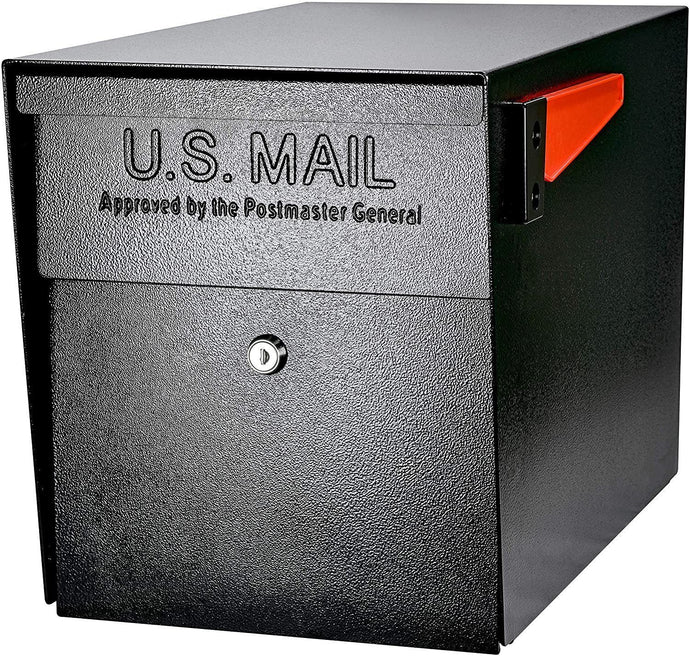 Mail Boss 7106 Curbside Security Locking Mailbox, Black (Black)