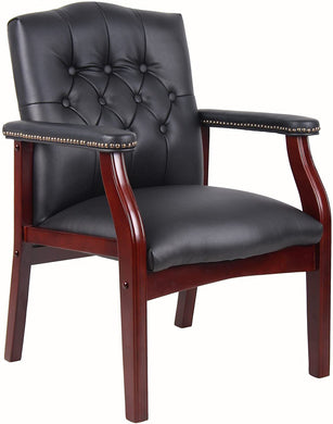 Boss Office Products Ivy League Executive Guest Chair in Black