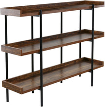 Load image into Gallery viewer, OneSpace Modern Wood and Steel 3-Shelf Display, Cherry