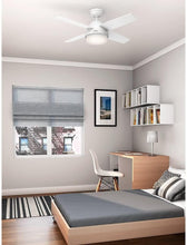 "Load image into Gallery viewer, Hunter Fan Company 59246 Hunter 44"" Dempsey Fresh White Ceiling Fan with Light and Remote"
