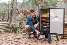 "Load image into Gallery viewer, Masterbuilt MB20070210 MES 35B Electric Smoker, 30"" Black with 3 Smoking Racks (Newer Version)"