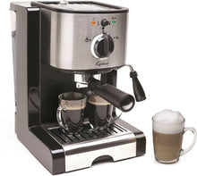 Load image into Gallery viewer, Capresso 116.04 Pump Espresso and Cappuccino Machine EC100, Black and Stainless