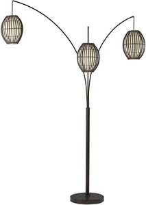 Adesso 4026-26 Maui Arc Lamp – 82-inch 3-Light Floor Lamp – Antique Bronze Finish Standing Lamp. Home Decor Lighting Fixtures