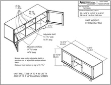 "Load image into Gallery viewer, Ameriwood Home Englewood TV Stand for TVs up to 55"", Espresso"