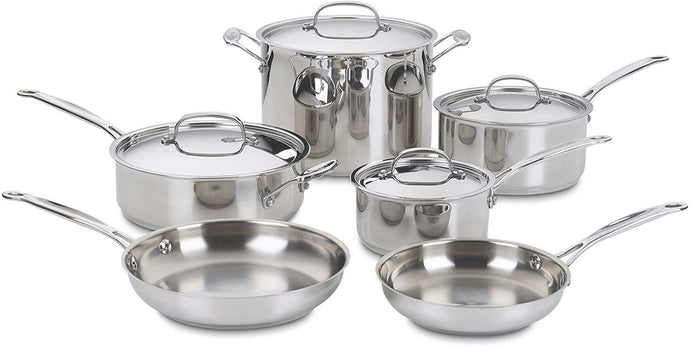 Cuisinart 77-10 Chef's Classic Stainless 10-Piece Cookware Set (10-Piece)