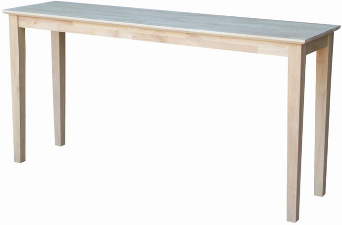 International Concepts Unfinished Shaker Extended Length Console Table (())