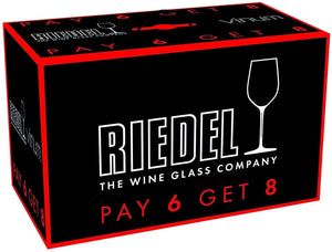 Riedel VINUM Bordeaux/Merlot/Cabernet Wine Glasses, Pay for 6 get 8 - 7416/0