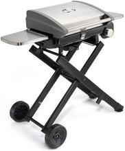 "Load image into Gallery viewer, Cuisinart CGG-240 All Foods, 27.3"" L x 38"" W x 23.5"" H, Roll-Away Gas Grill, Stainless Steel"