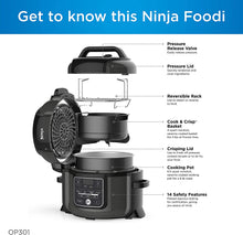 Load image into Gallery viewer, Ninja Foodi 9-in-1 Pressure, Slow Cooker, Air Fryer and More, with 6.5 Quart Capacity and 45 Recipe Book, and a High Gloss Finish