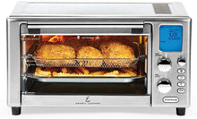 Load image into Gallery viewer, Emeril Lagasse Power Air Fryer 360 Better Than Convection Ovens Hot Air Fryer Oven, Toaster Oven, Bake, Broil, Slow Cook and More Food Dehydrator, Rotisserie Spit, Pizza Function Cookbook Included Stainless Steel
