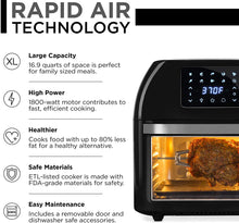 Load image into Gallery viewer, Best Choice Products 16.9qt 1800W 10-in-1 Family Size Air Fryer Countertop Oven, Rotisserie, Dehydrator - Black