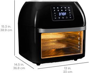 Best Choice Products 16.9qt 1800W 10-in-1 Family Size Air Fryer Countertop Oven, Rotisserie, Dehydrator - Black