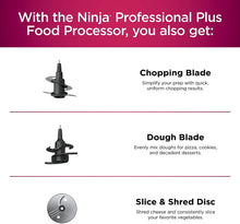 Load image into Gallery viewer, Ninja BN601 Professional Plus Food Processor 1000-Peak-Watts with Auto-iQ Preset Programs Chop Puree Dough Slice Shred with a 9-Cup Capacity and a Silver Stainless Finish